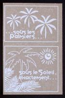 Tag en Flex'Plak imprimé Sous les palmiers