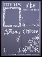 Cartes Priplak imprimé Saisons 7.5x10cm