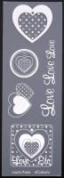 Etiquette en Priplak imprimé Coeur