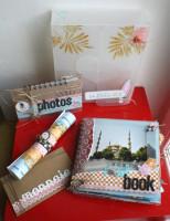 FT n°21 Kit Boite Mini-Album Souvenirs de vacances