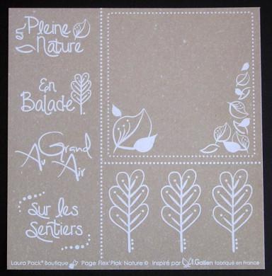 Plaque de Flex'Plak imprimé Nature 19x19cm