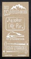 Etiquette en Flex'Plak imprimé Montagne