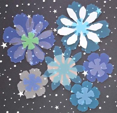 Fleurs exotiques Priplak/pack bleu