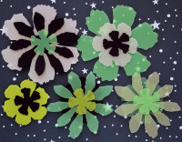 Fleurs exotiques Priplak/pack vert