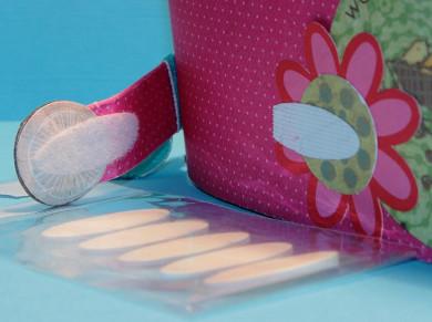 Pastille Velcro adhésive