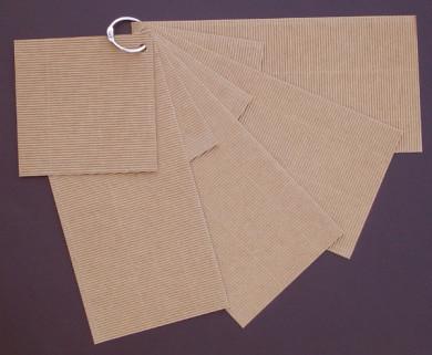 Mini-Album rectangle carton microcannelé