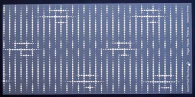 Plaques de Priplak imprimé Perles 15x30.5cm