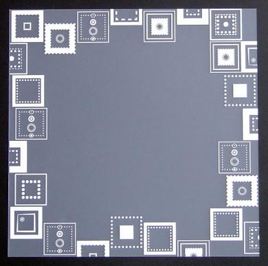 Plaque de Priplak imprimé Cadre Carré 19x19cm