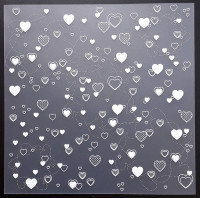 Plaque de Priplak imprimé Coeurs 19x19cm