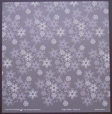 Plaque de Priplak imprimé Flocons2 30.5x30.5cm