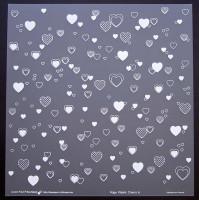 Plaque de Priplak imprimé Coeurs 30.5x30.5cm