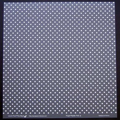 Plaque de Priplak imprimé PoisD 30.5x30.5cm