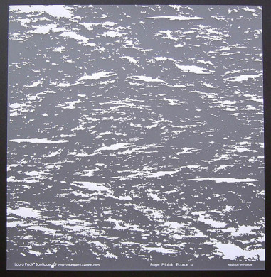 Plaque de Priplak imprimé Ecorce 30.5x30.5cm
