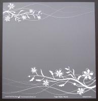 Plaque de Priplak imprimé Fleurs 30.5x30.5cm