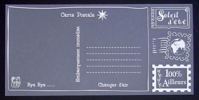 Plaque de Priplak imprimé Carte Postale 9.5x19cm