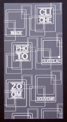 Plaque de Priplak imprimé Cliché 9.5x19cm