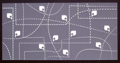 Plaque de Priplak imprimé Itinéraire 9.5x19cm