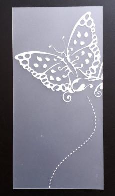 Plaque de Priplak imprimé Papillon 9.5x19cm