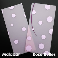 Plaque de Priplak imprimé Rose-Bulles et Malabar 9.5x19cm
