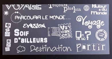 Plaque de Priplak imprimé VoyageD 9.5x19cm