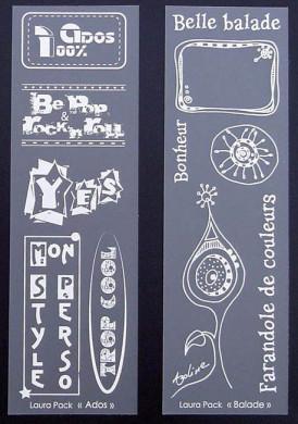 Etiquettes en Priplak imprimé série 3