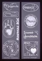 Etiquettes en Priplak imprimé série 4