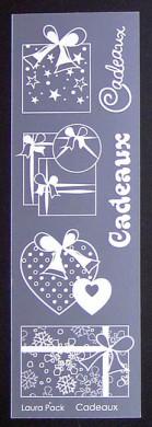 Etiquette en Priplak imprimé Cadeaux
