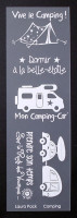Etiquette en Priplak imprimé Camping