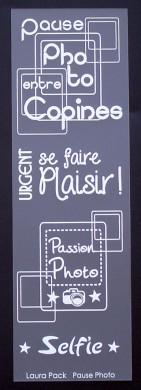 Etiquette en Priplak imprimé Pause Photo
