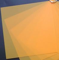 Plaque de Priplak Opaline mandarine 19 x 19cm