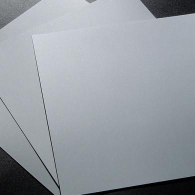 Plaque de Priplak argenté 19x19cm