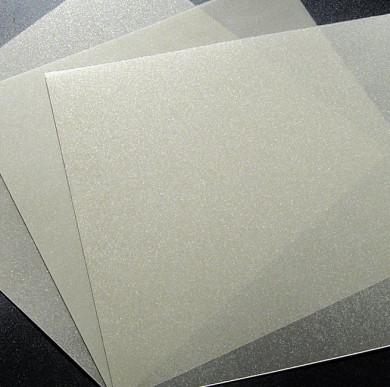 Plaque de Priplak doré pailleté 19x19cm