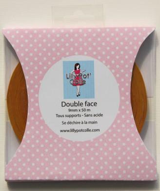 Rouleau adhésif double-face