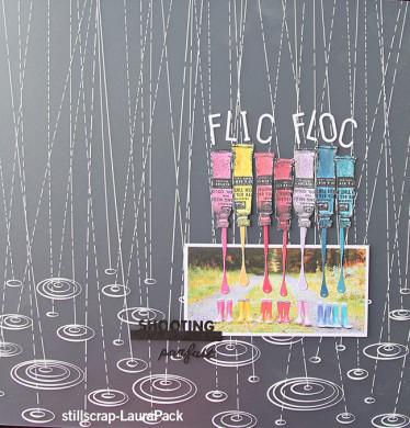 Plaque de Priplak imprimé Flic Floc 30.5x30.5cm