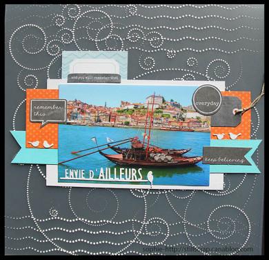 Plaque de Priplak imprimé Lagon 30.5x30.5cm