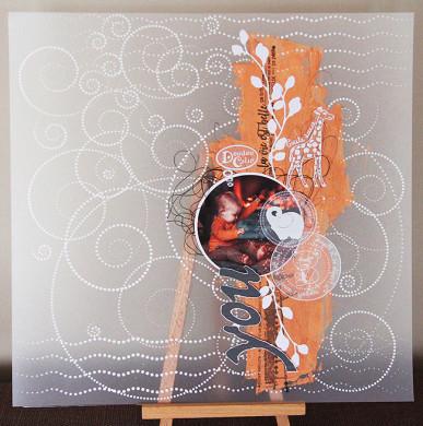 Plaque de Priplak imprimé Doudou 9.5x19cm