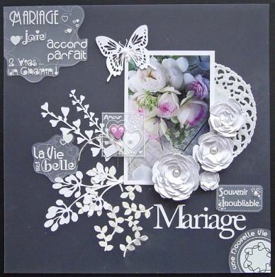 Plaque de Priplak imprimé Mariage 19x19cm