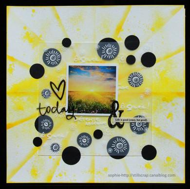 Plaque de Priplak imprimé Ô Soleil 19x19cm